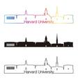 Harvard University skyline linear style with