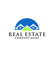 home real estate logo home real estate logo vector image