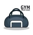 icon sport bag gym design vector image vector image