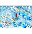 Isometric Infographic Set Winter Elements in vector image vector image