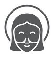 jesus glyph icon portrait and christ god sign vector image vector image
