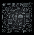 lined back to school supplies elements vector image