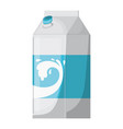 milk carton colorful silhouette on white vector image