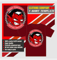 mock up clothing company t-shirt templateangry vector image