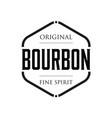 original bourbon vintage sign stamp vector image
