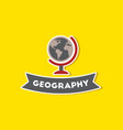 paper sticker on stylish background geography vector image vector image