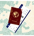 Passport with a boarding pass vector image vector image