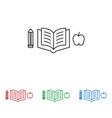 pen book apple icon vector image