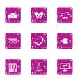 ponder icons set grunge style vector image vector image