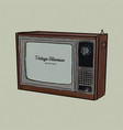 retro television tv old style sketch vector image