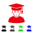 sad professor icon vector image vector image