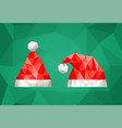 Santa claus hat in polygonal style
