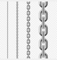 seamless chain pattern silver metallic chain vector image