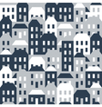 seamless pattern houses vector image vector image