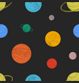 seamless pattern with colorful planets and other vector image vector image