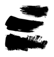 Set of ink brush stroke stains Grunge vector image vector image