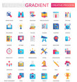 set of trendy flat gradient of creative vector image