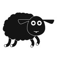 sheep icon simple style vector image vector image
