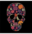 skull with colorful flowers vector image vector image