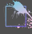 splash ink frame template gradient art vector image vector image
