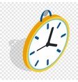 wall clock with a loop isometric icon vector image