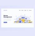 web design flat modern concept - money management vector image
