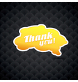 Yellow board with thank you sign vector image vector image