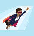 young african-american superhero woman wearing vector image vector image