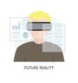 icon future reality vector image