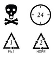 packaging symbols set vector image