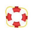 cartoon style lifebuoy vector image
