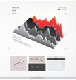 Abstract infographic element vector image vector image