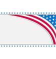 abstract usa flag corner border vector image vector image