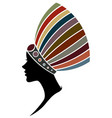 African women silhouette fashion models on white