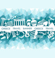 banner on a theme of travel to greece vector image vector image