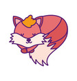bashower cute fox sleeping animal cartoon vector image vector image