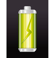 Battery design vector image