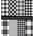 black and white plaid collection vector image