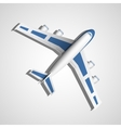 blue airplane top view vector image vector image