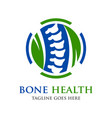 bone health logo vector image