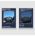 brochure flyer design layout template vector image