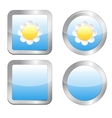 Buttons with daisy vector image vector image