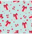 christmas gift merry christmas seamless pattern vector image vector image