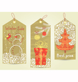 Christmas vintage tags vector image vector image