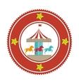 circus horse entertainment icon vector image vector image
