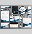 complete set of business stationery collateral vector image
