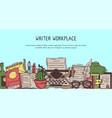 copywriter vintage workplace banner vector image vector image