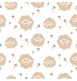 cute sheep animal seamless baby pattern vector image