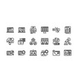 digital marketing outline icons set 2 vector image