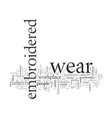 embroidered work wear vector image vector image